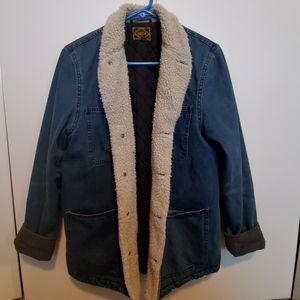 Obey Faux Wool Lined Denim Jacket